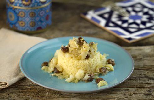 Cous cous con baccalà e uvetta, un piatto agrodolce