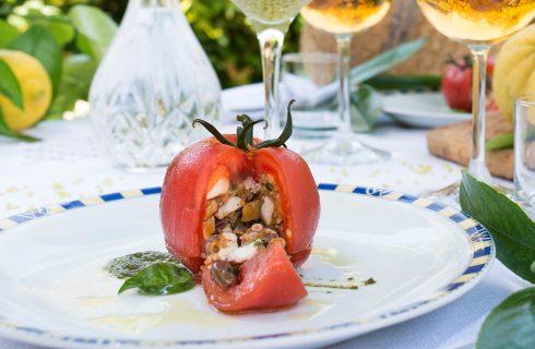 Pomodori farciti con polpo