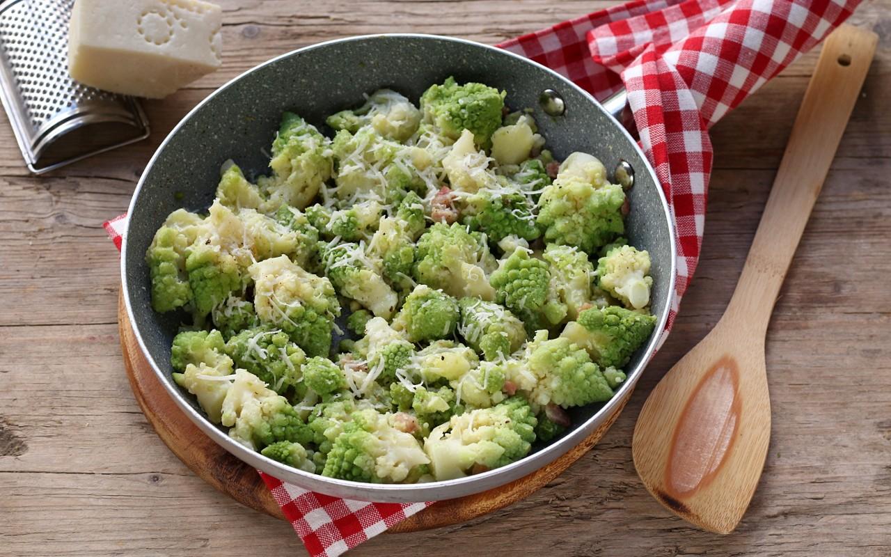 Ricetta Broccolo Romano In Padella Con Guanciale E Pecorino Contorno Ricco Agrodolce