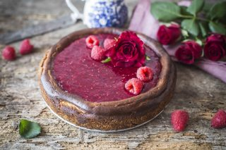 Cheesecake alle rose: romantica