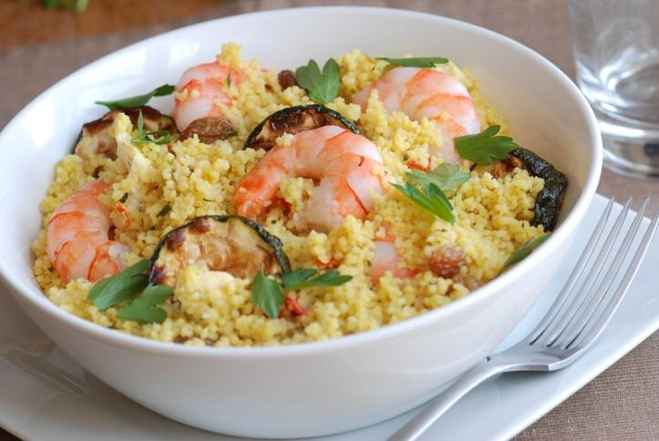 Cous cous zucchine e gamberi, la ricetta di Benedetta Parodi