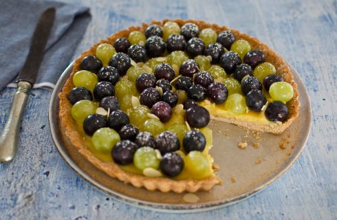 Crostata all'uva: per la fine dell'estate