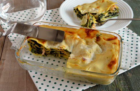 Lasagne con spinaci e salmone: ricetta leggera