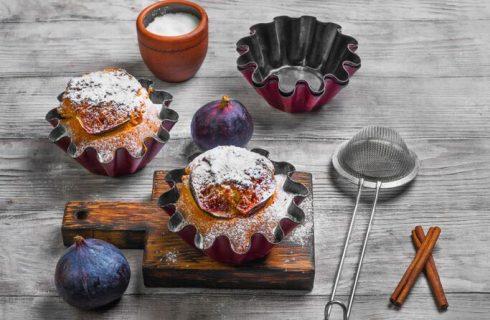 La ricetta dei muffin cioccolato e fichi di Cotto e Mangiato