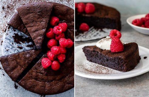 La torta di cioccolato all'acqua con la ricetta light