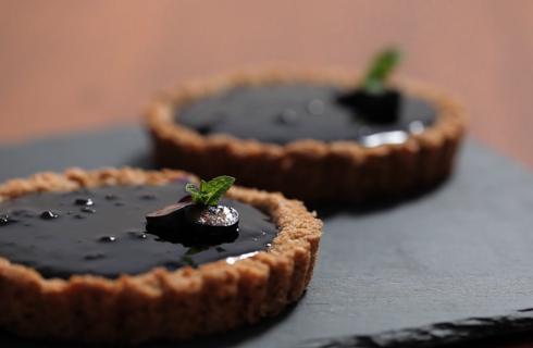Crostatine integrali con marmellata di mirtilli