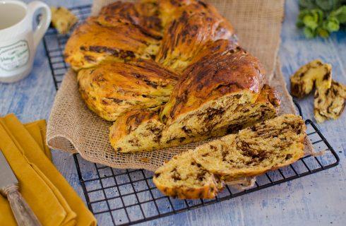 Pan brioche alla zucca con cioccolato e pistacchi