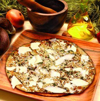 Pizza ai funghi rovesciata: per l'autunno