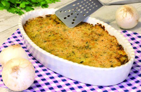 Sformato di patate alla cipolla: secondo vegano