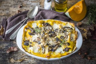 Lasagne autunnali vegetariane: cremose