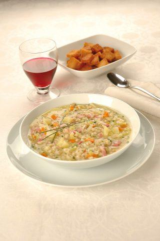 Zuppa di orzo con zucca e pancetta al bimby