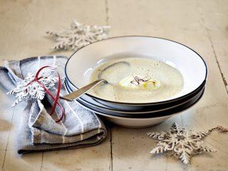 Zuppa di sedano rapa con ricotta di capra al bimby
