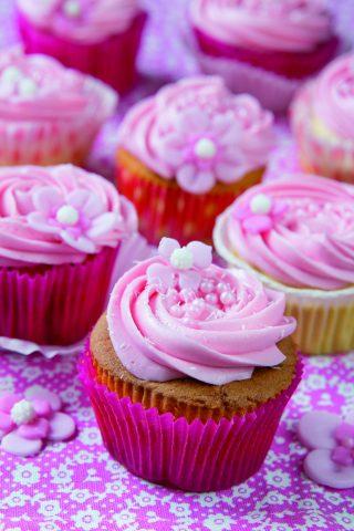 Cupcake rosa alla vaniglia