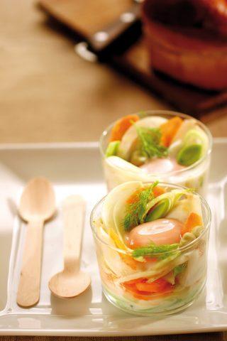 Uova in cocotte con verdure al bimby