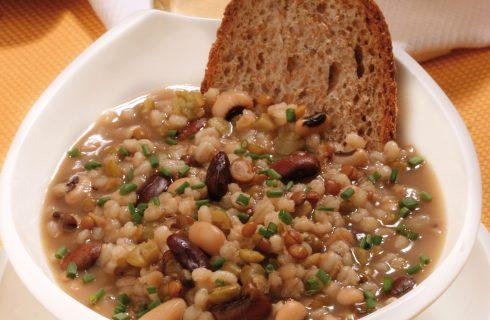 Zuppa di farro e legumi al bimby