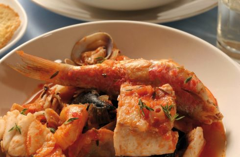 Zuppa di pesce misto al bimby