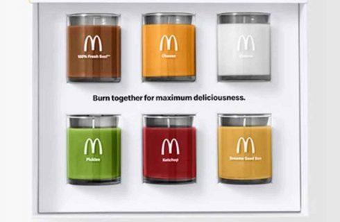 Le candele di McDonald's che fanno profumare casa come un hamburger