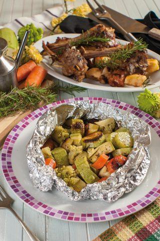 Fagottino di verdure al barbecue