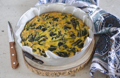 Frittata di spinaci al forno: per la cena