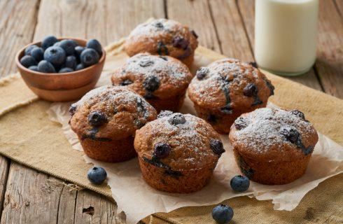 Muffin integrali ai mirtilli