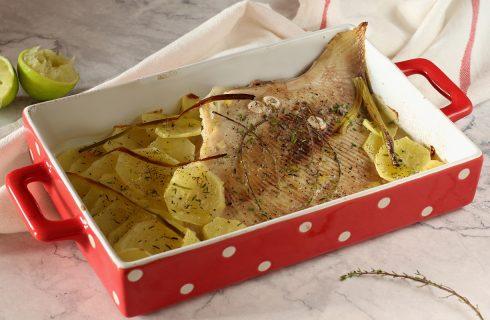 Razza con patate: secondo piatto di mare