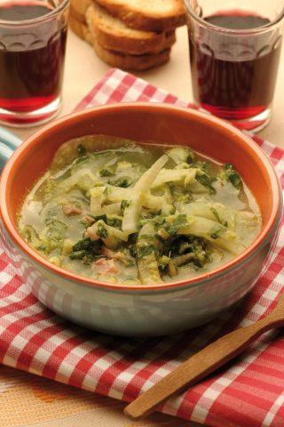 Zuppa di bietole e finocchi con salsiccia al bimby