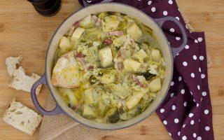 Zuppa di verza, patate e pancetta
