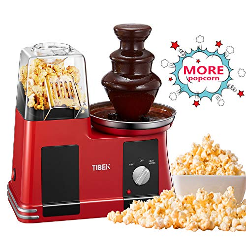 Tebek 2 in 1 popcorn e fontana di cioccolato