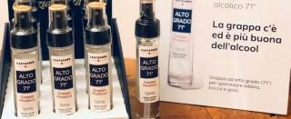 In Veneto la grappa spray per disinfettare scatena polemiche