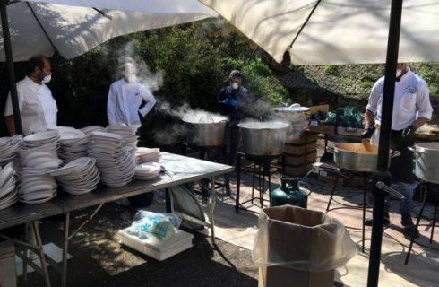Gli chef romani cucinano per i medici dello Spallanzani