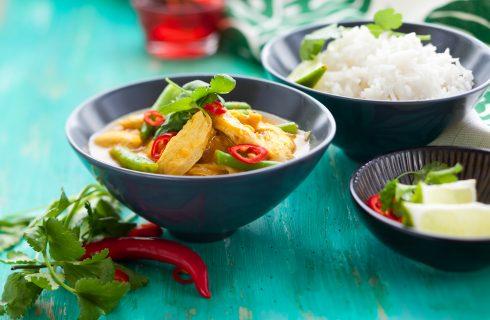 Curry di pollo e fagiolini