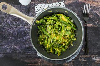 Fagiolini con le uova, cucina vegetariana