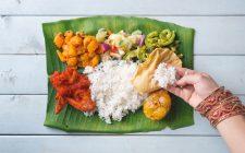Dall'India: mangiare il banana leaf thali