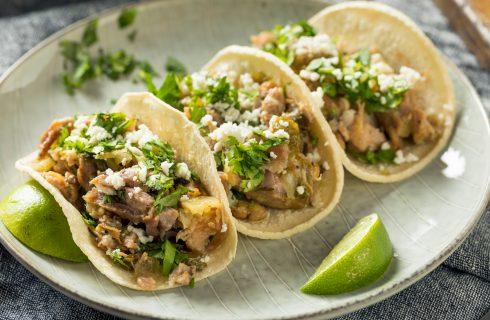 Tacos con carnitas