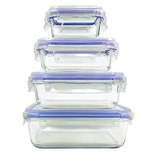 Set di contenitori per alimenti in vetro