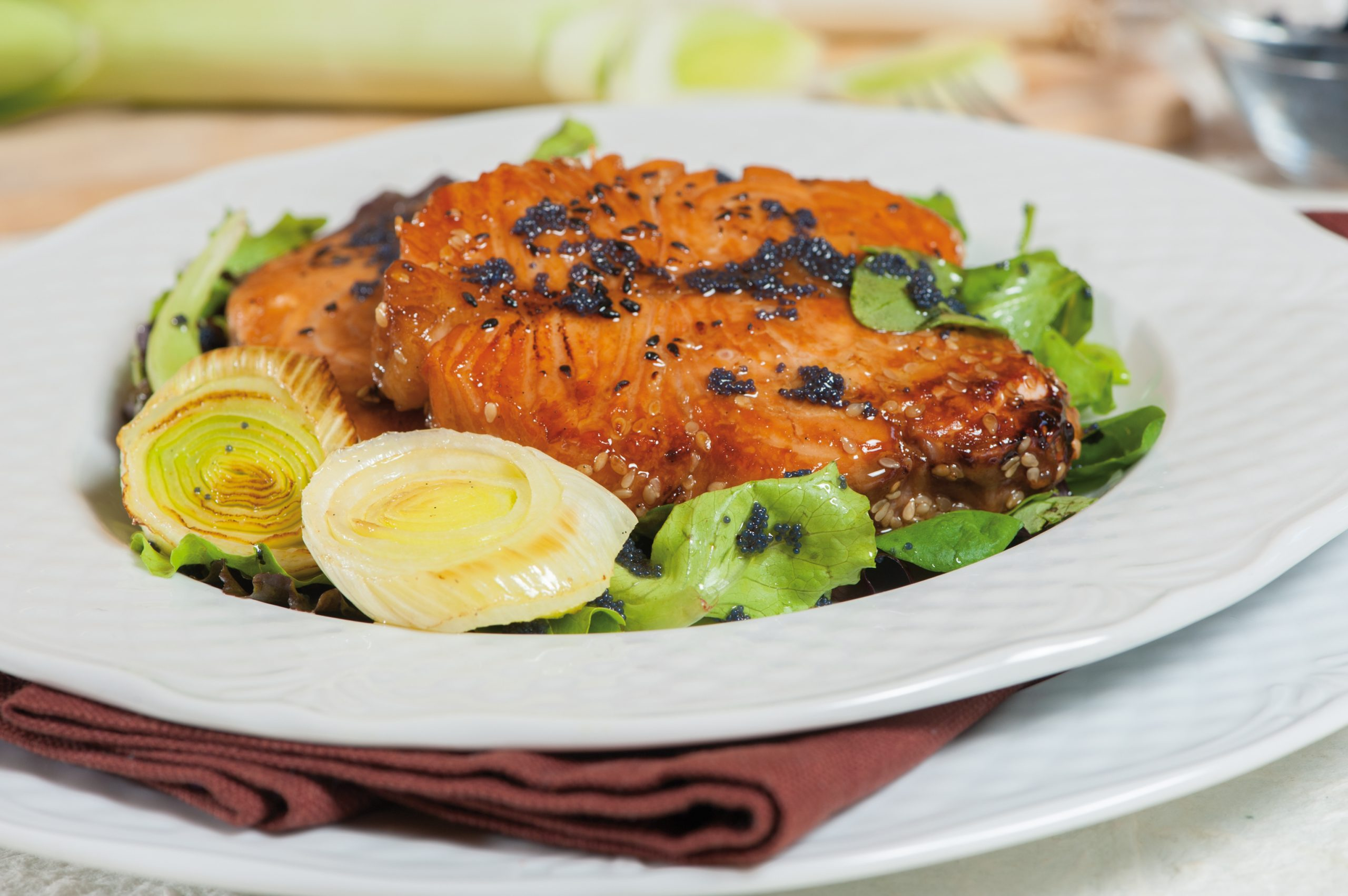 Ricetta Salmone Porri.Ricetta Salmone Con Porri Agrodolce