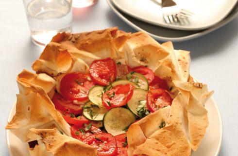 Torta salata zucchine e pomodori al bimby