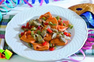 Tortelli ricotta e prezzemolo con verdure