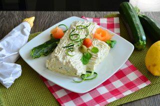 Tronchetto salato con zucchine e gamberetti al bimby