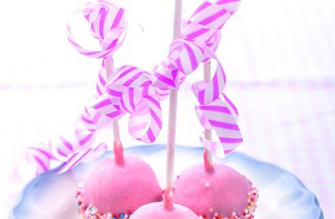 Cake pops alla fragola