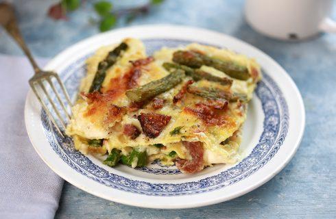 Lasagne asparagi e pancetta