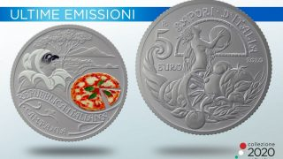 Una moneta speciale celebra la pizza margherita