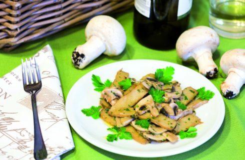 Seitan con funghi champignon