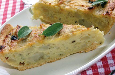 Torta salata di patate, cipolle e salvia al bimby