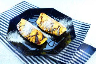 Ananas grigliato con sciroppo di acero
