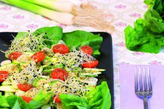 Insalata di lattuga con alghe