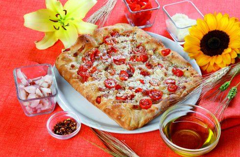 Pizza in teglia alla Matriciana