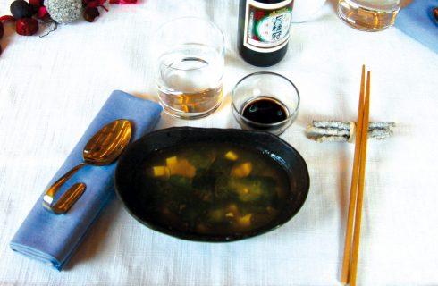 Tofu No Misoshiru: zuppa di miso con tofu e alghe