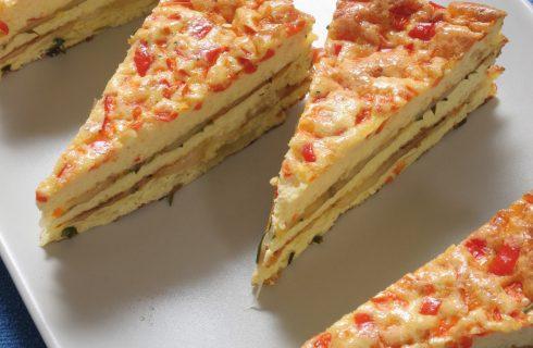 Torta di omelette con zucchine e pomodori al bimby