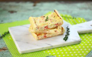 Torta salata salmone e porri